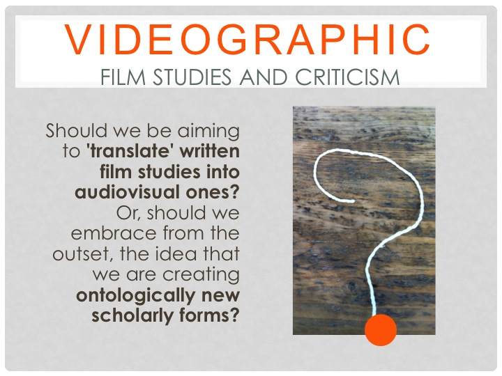 Catherine Grant The Audiovisual Essay