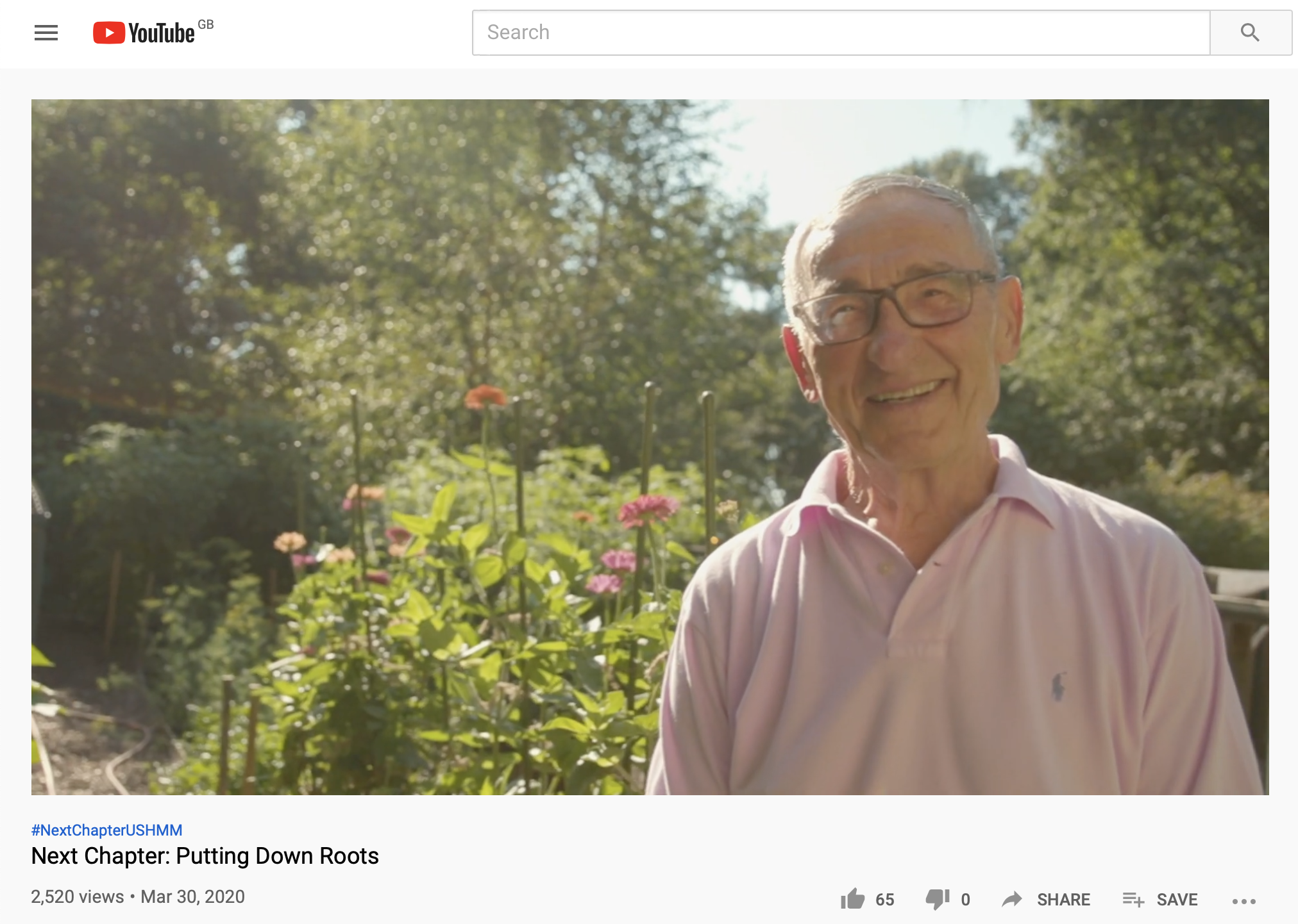 In his garden, Nat Shaffir beams in the final moments of 'Putting Down Roots'