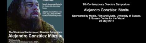 Recordings from 9th Annual Contemporary Directors Symposium on Alejandro González Iñárritu