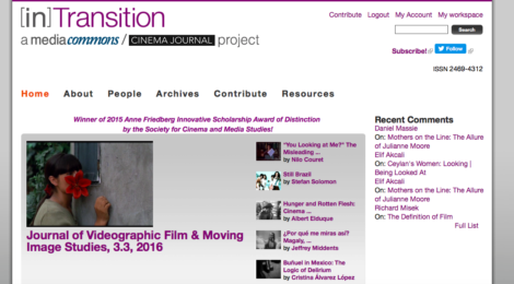 Video essays on Latin American Cinema at a special issue of [in]Transition