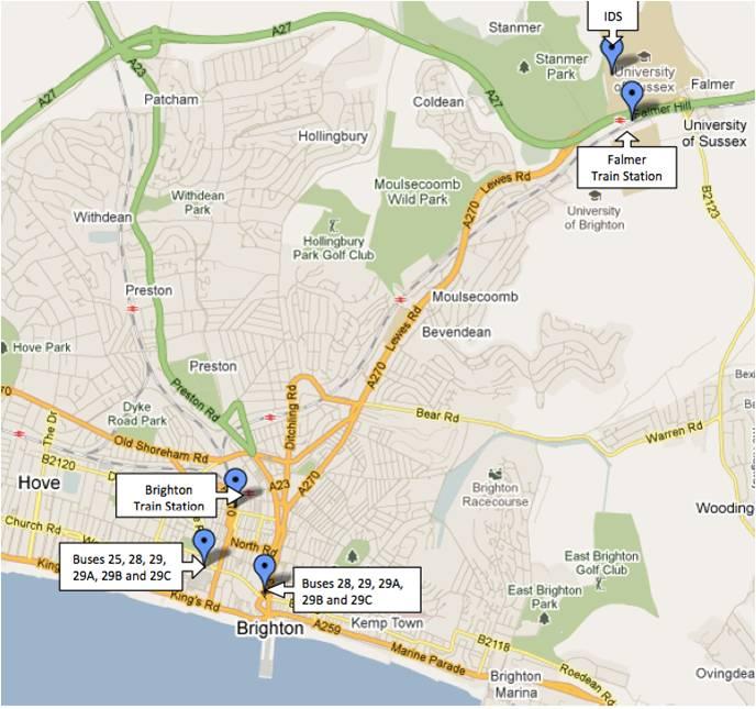 Brighton-Falmer-map