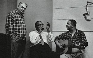 Moses Asch, Sonny Terry, Brownie McGhee