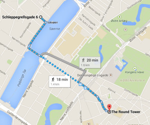 Copenhagen walk map from Mark Johnson