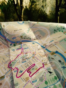 Map photographed by Rachel Tavernor