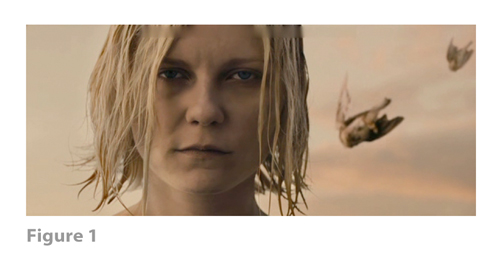 Figure 1: All images from MELANCHOLIA derive from frame grabs from the DVD version of the film: © 2011 Zentropa Entertainments27 ApS, Memfis Film International AB, Zentropa International Sweden AB, Slot Machine SARL, Liberator Productions SARL, Arte France Cinéma, Zentropa International Köln GmbH. DVD: Magnolia Home Entertainment. They appear here solely for Fair Dealing (and Fair Use) purposes of scholarship and criticism.