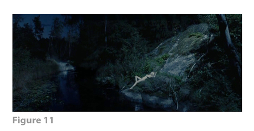 Figure 11: All images from MELANCHOLIA derive from frame grabs from the DVD version of the film: © 2011 Zentropa Entertainments27 ApS, Memfis Film International AB, Zentropa International Sweden AB, Slot Machine SARL, Liberator Productions SARL, Arte France Cinéma, Zentropa International Köln GmbH. DVD: Magnolia Home Entertainment. They appear here solely for Fair Dealing (and Fair Use) purposes of scholarship and criticism.
