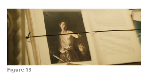 Figure 13: All images from MELANCHOLIA derive from frame grabs from the DVD version of the film: © 2011 Zentropa Entertainments27 ApS, Memfis Film International AB, Zentropa International Sweden AB, Slot Machine SARL, Liberator Productions SARL, Arte France Cinéma, Zentropa International Köln GmbH. DVD: Magnolia Home Entertainment. They appear here solely for Fair Dealing (and Fair Use) purposes of scholarship and criticism.