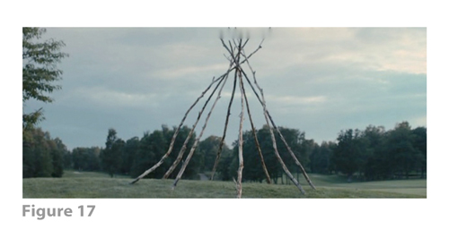 Figure 17: All images from MELANCHOLIA derive from frame grabs from the DVD version of the film: © 2011 Zentropa Entertainments27 ApS, Memfis Film International AB, Zentropa International Sweden AB, Slot Machine SARL, Liberator Productions SARL, Arte France Cinéma, Zentropa International Köln GmbH. DVD: Magnolia Home Entertainment. They appear here solely for Fair Dealing (and Fair Use) purposes of scholarship and criticism.