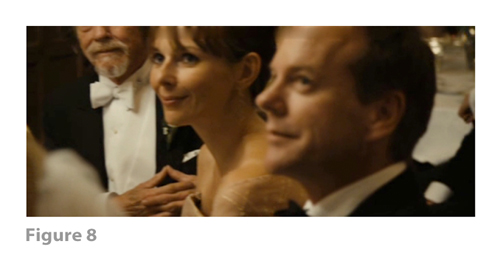 Figure 8: All images from MELANCHOLIA derive from frame grabs from the DVD version of the film: © 2011 Zentropa Entertainments27 ApS, Memfis Film International AB, Zentropa International Sweden AB, Slot Machine SARL, Liberator Productions SARL, Arte France Cinéma, Zentropa International Köln GmbH. DVD: Magnolia Home Entertainment. They appear here solely for Fair Dealing (and Fair Use) purposes of scholarship and criticism.